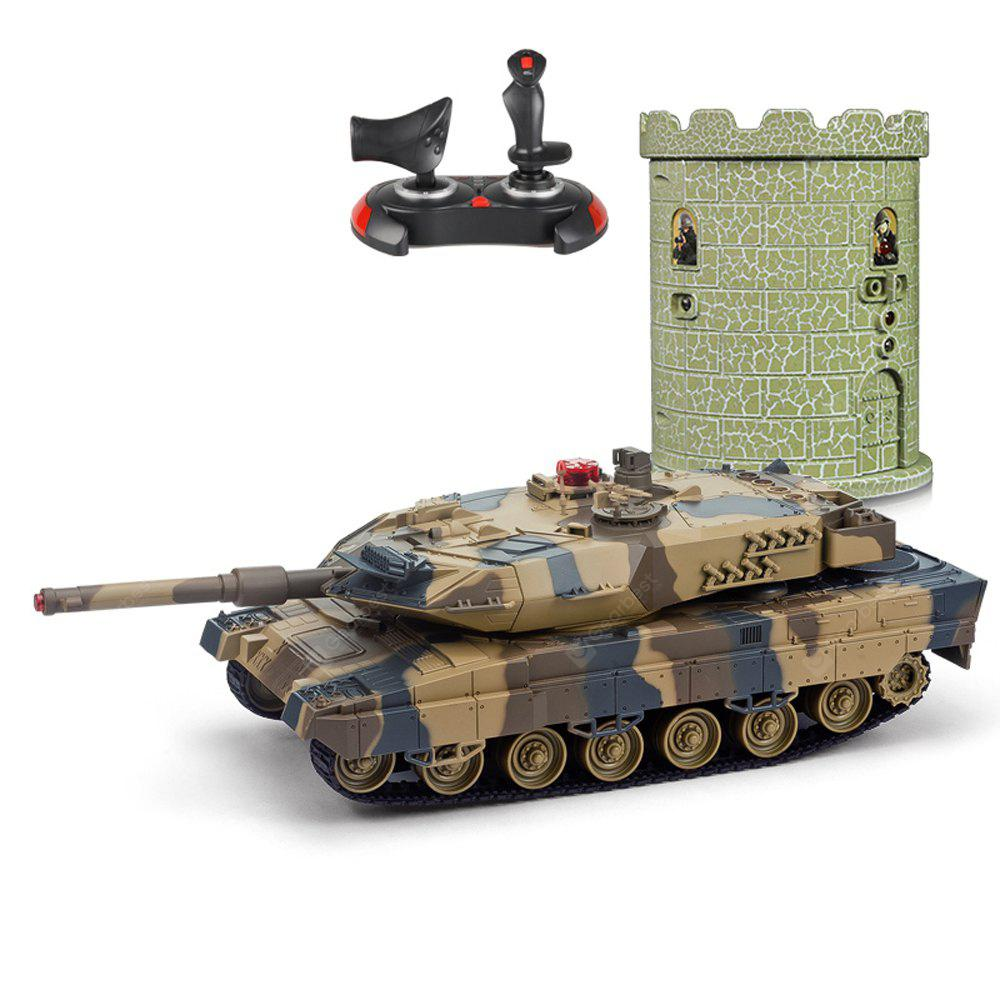 HUANQI 550B 1:24 Scale Simulation Infrared RC Battle Tank