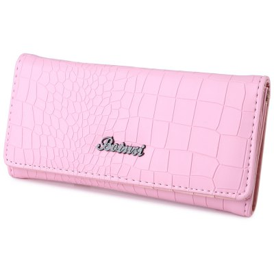 Guapabien Stylish Stone Striped Pure Color Wallet Coin Purse for Ladies