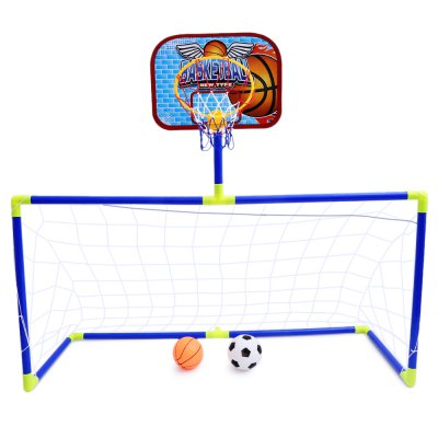 Anjanle Kids Portable 2-in-1 Football Basketball Set
