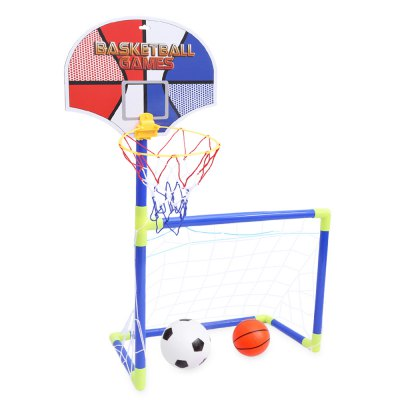 Anjanle Kids Portable 2 in 1 Football Basketball Set