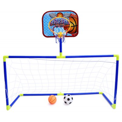 Anjanle Children Portable 2-in-1 Football Basketball Set