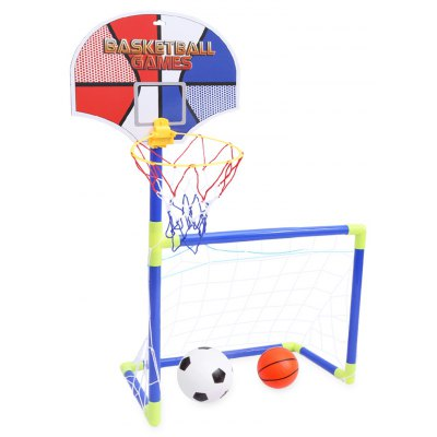 Anjanle Children Portable 2 in 1 Soccer Ball Basketball Set