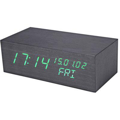 Creative Wooden LED Clock with Perpetual Calendar