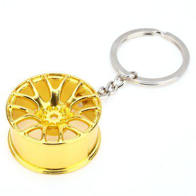 Metal Car Key Ring Vehicle Wheel Design Zinc Alloy Material