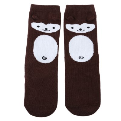 Baby Child Cartoon Animal Print Skid Resistant Elastic Socks