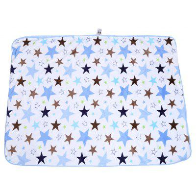 Soft Geometric Star Print Double Layers Cover Hold Blanket