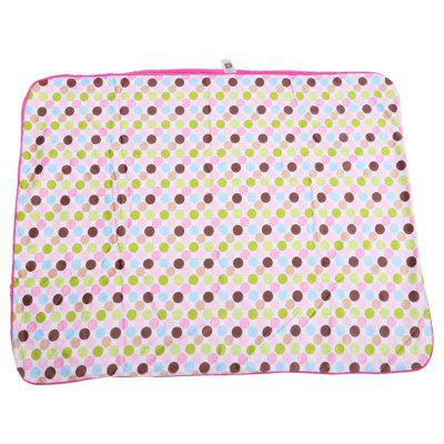 Geometric Dot Print Double Layers Cover Hold Blanket