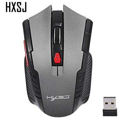 Buy GRAY HXSJ X20 2400DPI 2.4GHz Wireless Optical Gaming Mouse for $4.18 in GearBest store