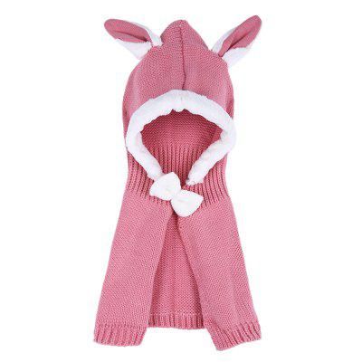 Girl Child Bowknot Animal Rabbit Ear Shape Cloak