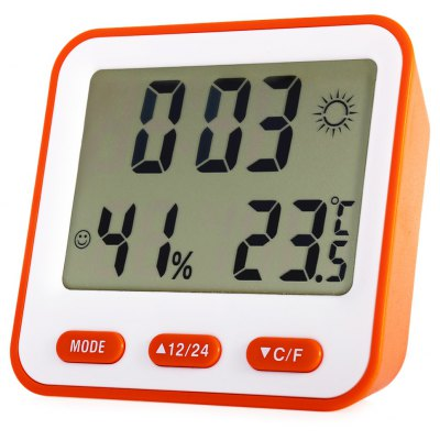 BK - 854 Digital Temperature Humidity Meter Alarm Clock