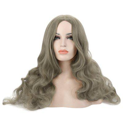 Long Wavy Wigs Synthetic Central Parting Hair