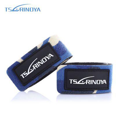 TSURINOYA 2pcs / Lot Fishing Rod Strap Elastic Lure Bandage