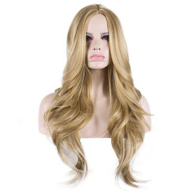 68CM Lady Heat Resistant Hair Long Wavy Blonde Wigs
