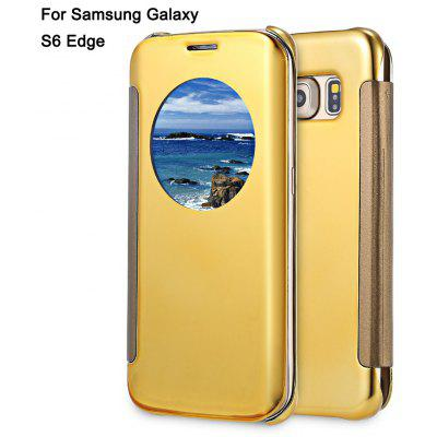 Mirror Flip Cover PC Case for Samsung Galaxy S6 Edge