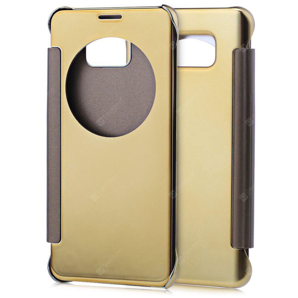 GOLDEN Mirror Flip Cover PC Case for Samsung Note 5