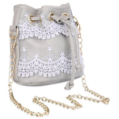 Guapabien Pure Color Diagonal Chain Strap Shoulder Bag