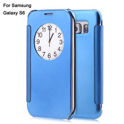 Buy BLUE Mirror Flip Cover PC Case for Samsung Galaxy S6 for $2.18 in GearBest store