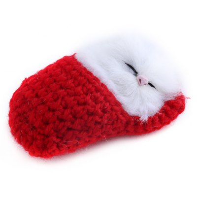 Lovely Simulation Sounding Sleeping Cat Plush Toy