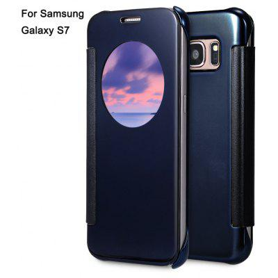 Mirror Flip Cover PC Case for Samsung Galaxy S7