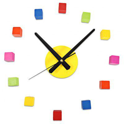 Sangtai6168s 3D Colorful Cube Mute DIY Wall Clock