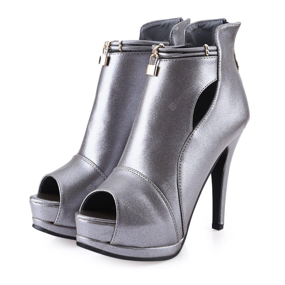 Golden Lock Open Toe Ladies Thin High Heel Sandals clearance cost sale low shipping fee best wholesale cheap price best seller for sale discount codes clearance store 23yx0CV6