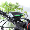 Mountain Bike Cycling Headlight with Electric Horn - BLACK AND GREEN