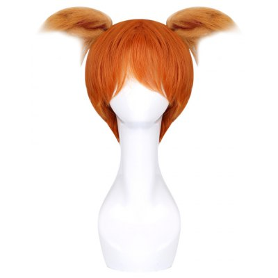 Funny Animal Cosplay Fox Orange Wig with Double Ears for Halloween Christmas Carnival Party