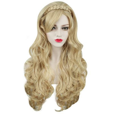 Sexy Women Long Curly Golden Wigs