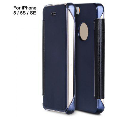Mirror flip cover pc case for iphone 5 5s se for Mirror iphone to pc