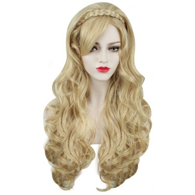 Buy GOLDEN Sexy Women Long Curly Golden Wigs for $15.46 in GearBest store