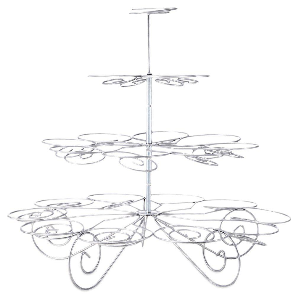 Stainless Steel 4 Tiers 23 Cups Dessert Stand