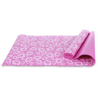 Buy PINK Exercise Fitness Yoga Mat Accessory with Flower Printing for $17.27 in GearBest store