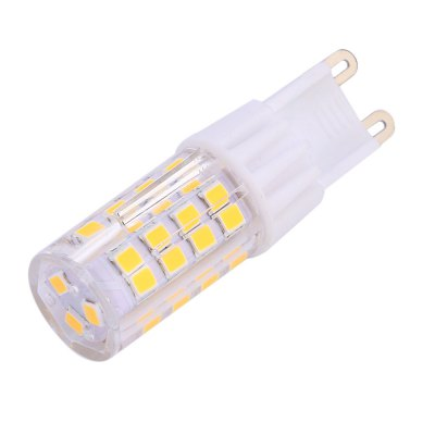 G9 5W LED Bulb LightCorn Bulbs<br>G9 5W LED Bulb Light<br><br>Bulb Base Type: G9<br>LED Chip Model: 2835<br>Package Contents: 1 x G9 AC 220V 5W 380 - 420LM SMD 2835 LED Bulb Light<br>Package Size(L x W x H): 6.00 x 2.00 x 2.00 cm / 2.36 x 0.79 x 0.79 inches<br>Package weight: 0.036 kg<br>Product Size(L x W x H): 5.50 x 1.50 x 1.50 cm / 2.17 x 0.59 x 0.59 inches<br>Product weight: 0.014 kg<br>Support Dimmer: No<br>Voltage: 220V<br>Wattage: 5W