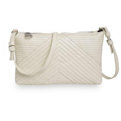 Guapabien Lady Raised Grain Pattern Multi Purposes Clutch Shoulder Crossbody Bag