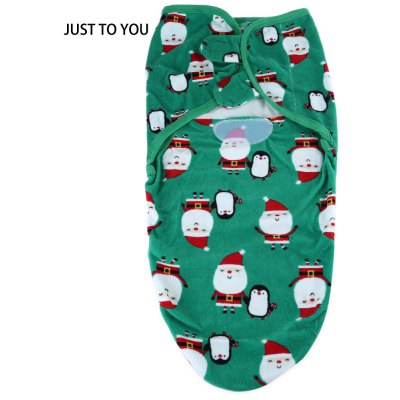 JUST TO YOU Cartoon Print Fluorescent Agent Free Swaddling