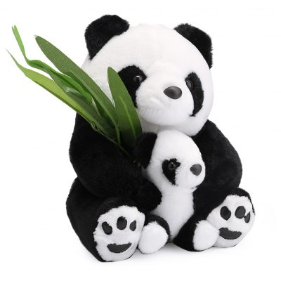 25cm Stuffed Cute Mother-child Panda Plush Doll Toy