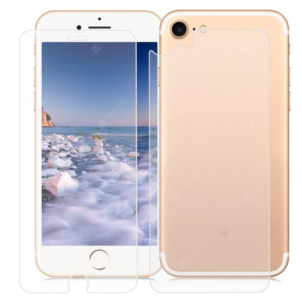 TRANSPARENT 2 in 1 3D Toughened Glass Film for iPhone 7 4.7 inch