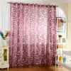 100 x 250cm Flower Printed Tulle Curtains - PURPLE