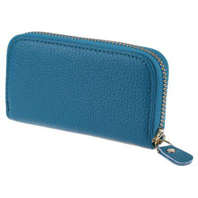 Square Solid Color Detachable Key Chain Zipper Wallet