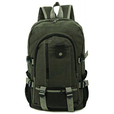 Canvas Zipper Ladder Lock Outdoor Activity Portable Backpack