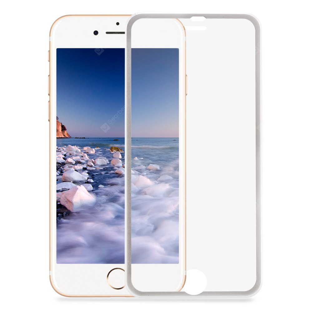 SILVER 3D Full Screen Toughened Glass Film for iPhone 7 4.7 inch