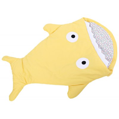 Warm Cartoon Shark Babies Sleep Bag Thick Infant Blanket