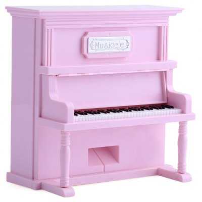 Miniature Lovely Romantic Upright Piano Music Box