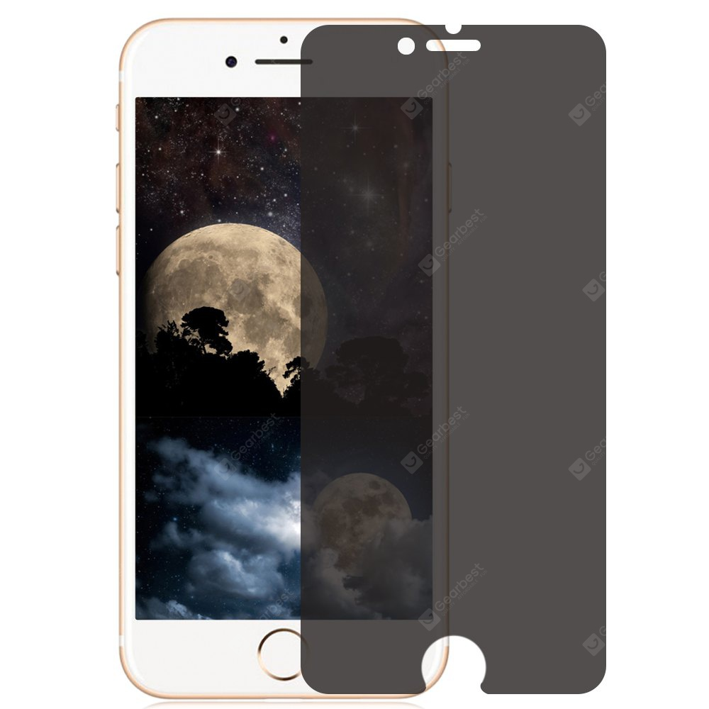 BLACK Anti-sight 9H Tempered Glass Film for iPhone 6 / 6S 0.33mm