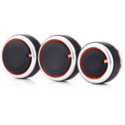 Buy BLACK 3PCS Car Conditioning Knob for Volkswagen for $6.35 in GearBest store