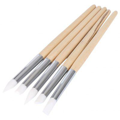 5pcs Nail Design Silicone Painting Dotting Detailing Pen