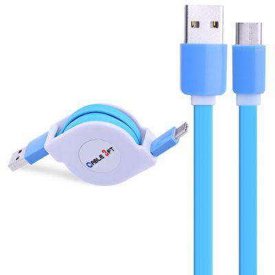Buy BLUE Retractable Type-C Fast Charging Data Cable 1M for $2.46 in GearBest store