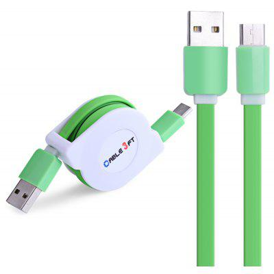Buy GREEN Retractable Type-C Fast Charging Data Cable 1M for $2.46 in GearBest store