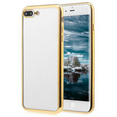 Buy GOLDEN Soft TPU Electroplate Plating Case for iPhone 7 Plus 5.5 inch for $1.04 in GearBest store