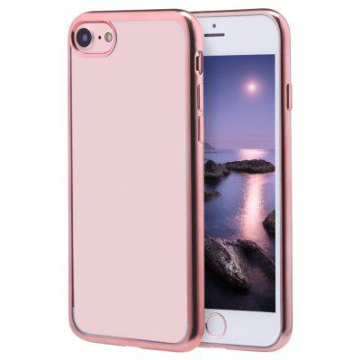 Buy ROSE GOLD Soft TPU Electroplate Plating Case for iPhone 7 4.7 inch for $1.17 in GearBest store